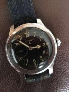 (Christmas Sales!) CYMA 1940's WWW British Military Issued WW2 Dirty Dozen Army Vintage Wrist Watch RARE