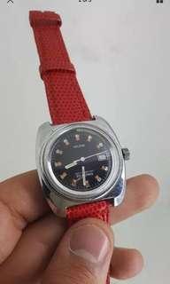 (Christmas Sales!) KELTON 1960's  Vintage Mechanical Winding DIVER SUB 25 Meter Wrist Watch