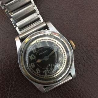 (Christmas Sales!) ETANCHE 1940's  GERMAN Military DH Style Vintage Mechanical Winding Wrist Watch