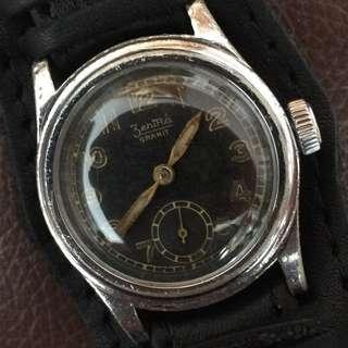 (Christmas Sales!) ZENTRA 1940's  GERMAN Military DH Style Vintage Mechanical Winding Wrist Watch