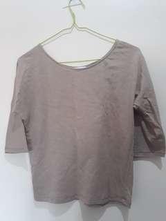 Promod Brown 3/4 Shirt