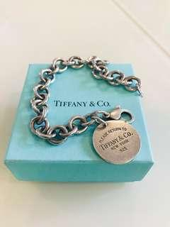 Authentic Tiffany and Co Dog Tag Bracelet