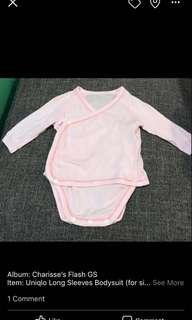 Uniqlo long sleeves body suit baby