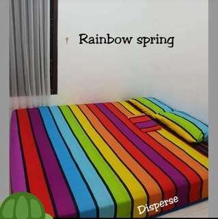 Sprei Homemade Motif Rainbow Spring