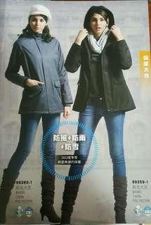🚚 專櫃西納寇爾防風保暖風衣式外套黑色