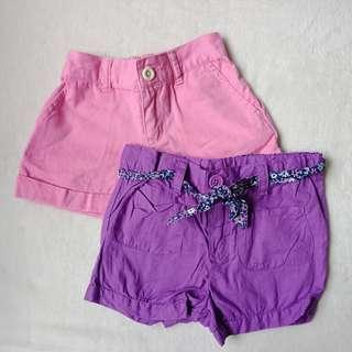 Set of 2 Shorts for Toddlers, 2T