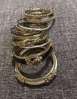 REPRICED: Bangles / Bracelets 22 pieces Take ALL