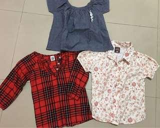 Bundle Tops Blouse Polo for Girls (3-6years old)