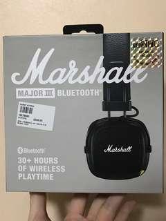 Marshall Major III Bluetooth in black