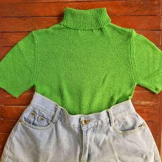 Knitted Moss Green Top 💕