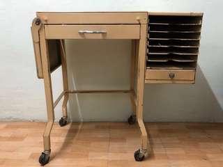 Rare 70's Antique Office Work Desk
