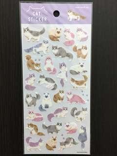 日本 貓貓貼紙 水彩風