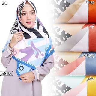 Hijab Segi Empat | Abstrak Blaster | Panel Maxmara Royal Platinum - Orange
