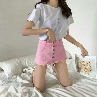 pink skirt instock