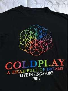 Coldplay Singapore Concert Tee