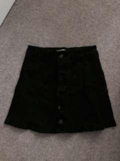 Supre black denim skirt