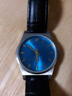 全新手上鏈 寶石花 藍面 男裝錶
