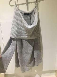 Grey Off Shoulder Tunic/Dress