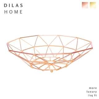 DILAS HOME | Geometric Gold Metal Kitchen Storage Basket