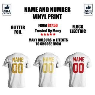 Name & Number T-Shirt Print