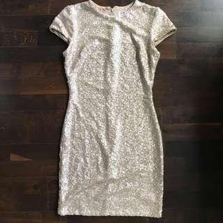 Gorgeous gold paillette New Years dress XS/S made in USA
