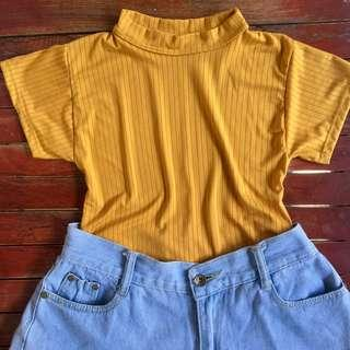 Mustard Fitted Top 💕