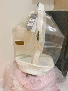 全新 Adidas x Stella McCartney white see-through bag backpack 白色 運動背包 背囊 游水防水袋 膠袋