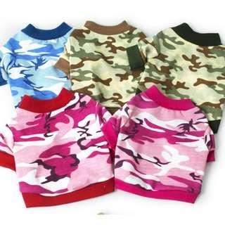 Camo Tees & Casual Tees for Dogs & Cats