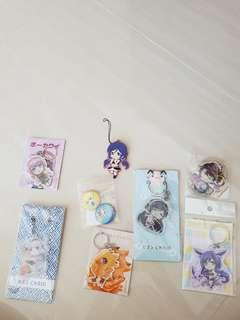 Anime keychains badges and phone straps