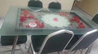 Glass table chairs rm 300 only