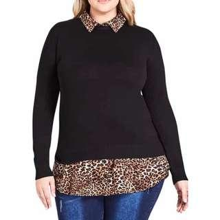 City Chic Over Shirt/Jumper