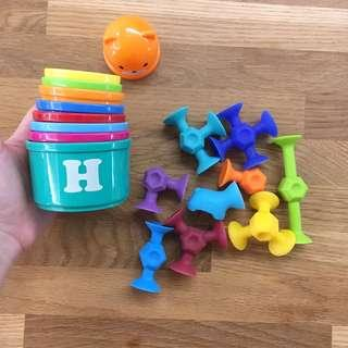 Kids stacking and suction game