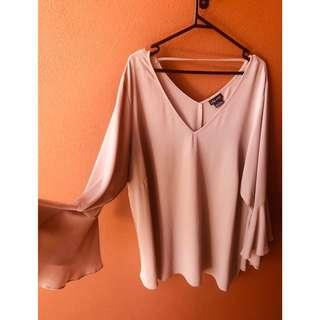 City Chic Flared Sleeve Top