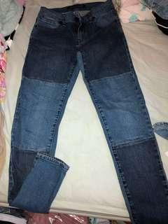 Neon Light two toned jeans