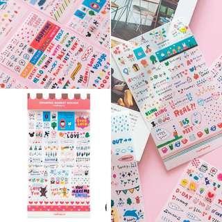 Korean-style traveller Deco DIY sticker 6 Sheet set