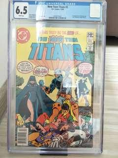 Teen Titans #2 1st appearance of Deathatroke