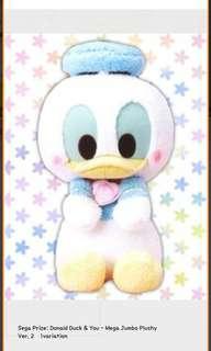 Donald Pastel Color Plush Plushy Toreba