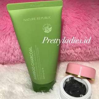 NATURE REPUBLIC BAMBOO CHARCOAL Mud Pack Share In Jar
