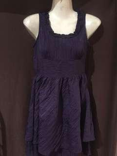 Violet ruffled dress