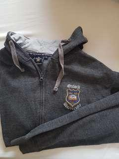 Oxford university grey hoodie jacket from UK