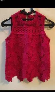 Padini Lace Red Top