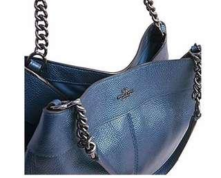 COACH Lexy Chain Shoulder Bag F22209 -Navy