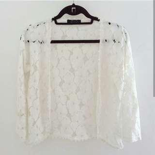 Knitted Floral Cardigan