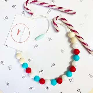 Handmade silicone 'Christmas' necklace
