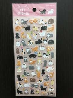日本製 貓貓貼紙 和紙