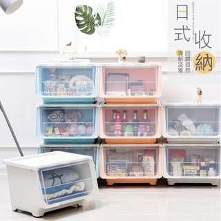 ☆VENCEDOR☆行李箱航空城 網路最低價 現貨 42L 收納櫃 收納箱 儲物箱 可多重疊加 掀蓋式收納箱 日式收納箱