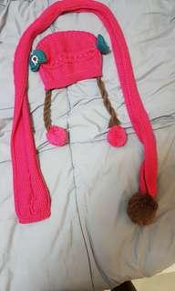 Brand New Pretty Cute Pink Winter Hat and Scarf 1 to 3 YO