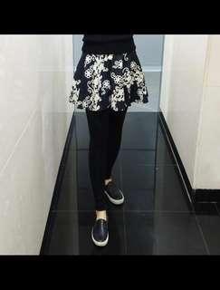 韓國製印花legging裙
