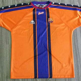 7ad1fbbe3 Barcelona Kappa 1997-98 Away Jersey XXL 2XL Vintage Retro