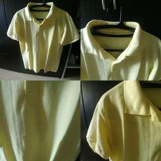 Plain Yellow Polo Shirt M